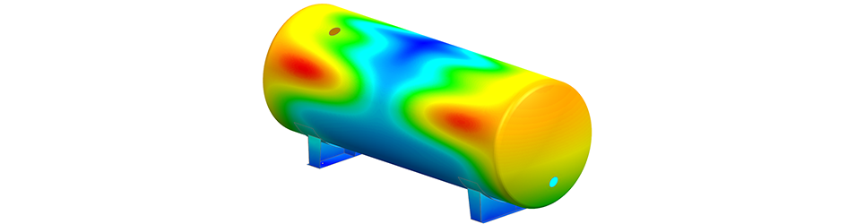 Pressure vessel modal analysis